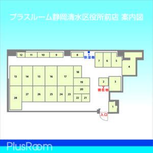 静岡清水区役所前店 配置図